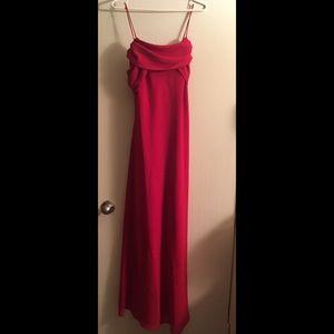 Red sparkling/glitter long dress